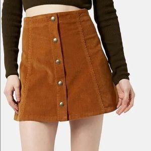 Topshop Brown Skirt